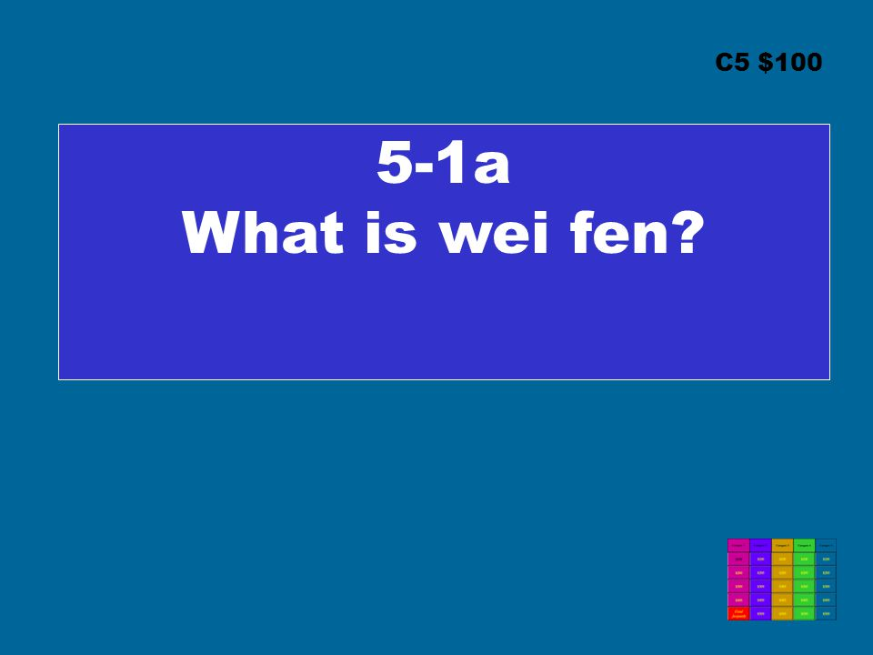 C5 $100 5-1a What is wei fen