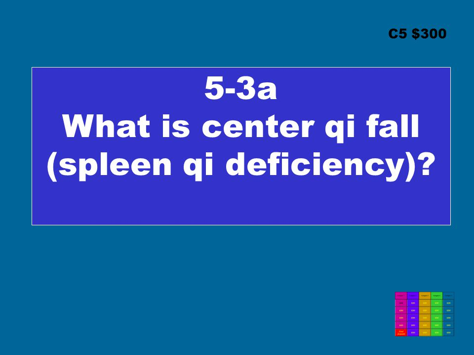 C5 $300 5-3a What is center qi fall (spleen qi deficiency)