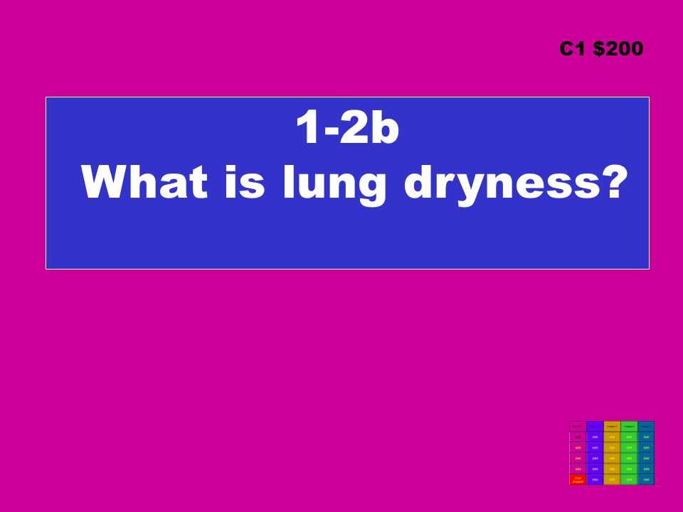 1-2b What is lung dryness C1 $200