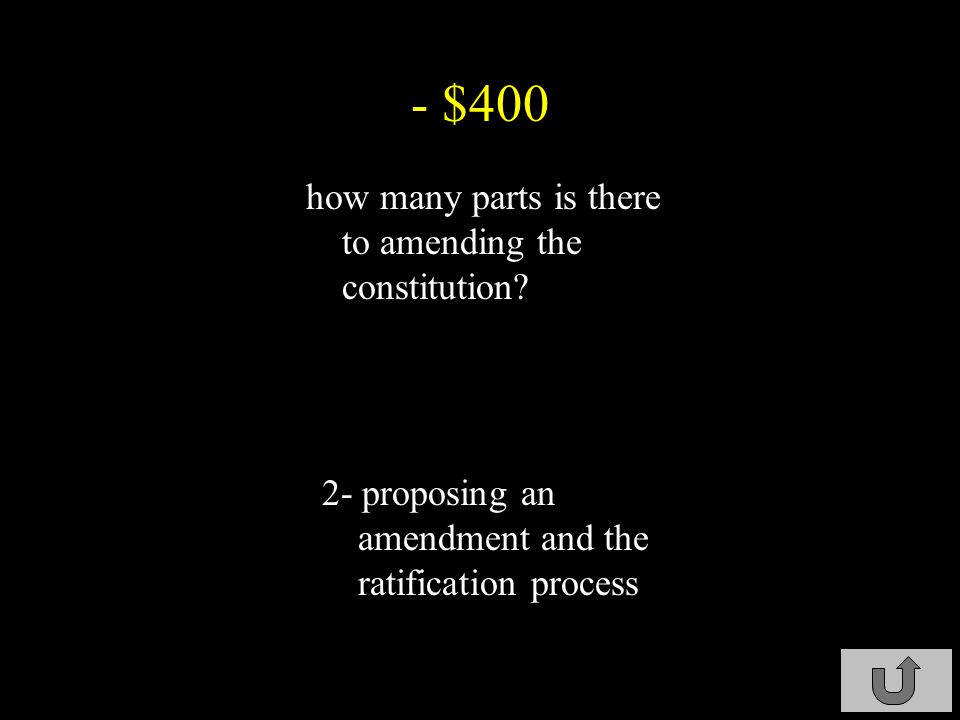 - $300 what is the role of the president in amending the Constitution.