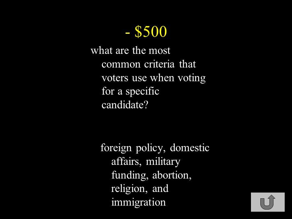 - $400 what is retrospective voting.