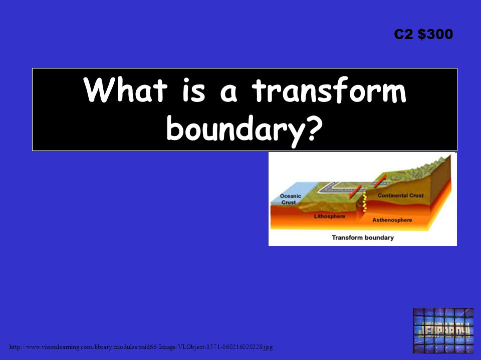 C2 $300 What is a transform boundary.
