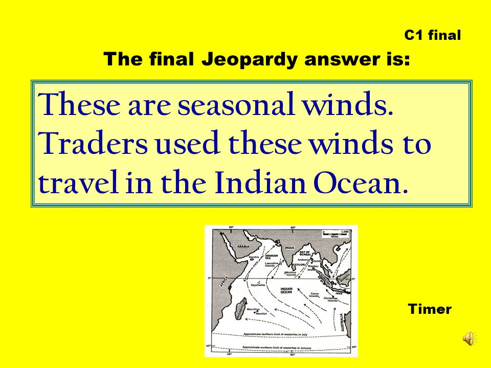 These are seasonal winds. Traders used these winds to travel in the Indian Ocean.