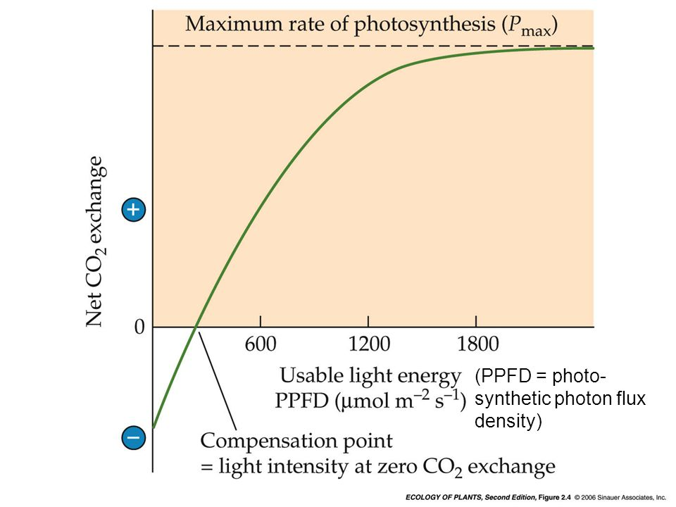 (PPFD = photo- synthetic photon flux density)