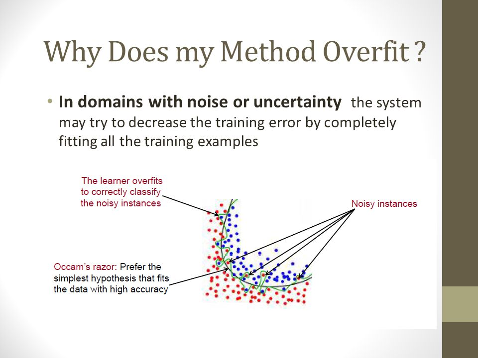 Fix overfitting/overlearning problem Ok, my system may overfit… Can I avoid it.