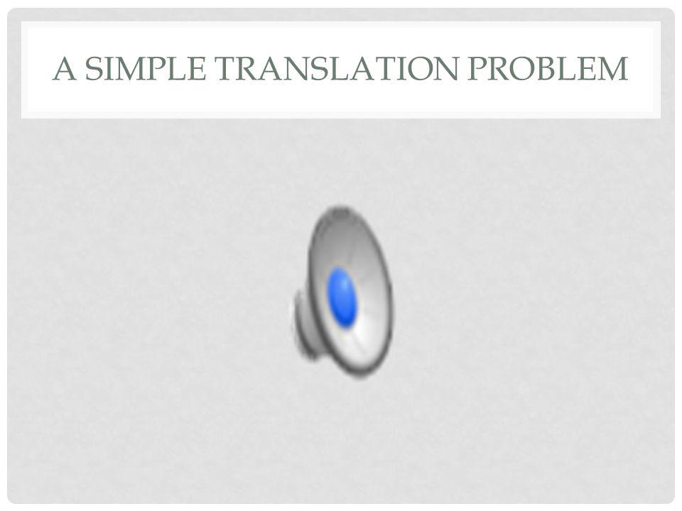 A SIMPLE TRANSLATION PROBLEM