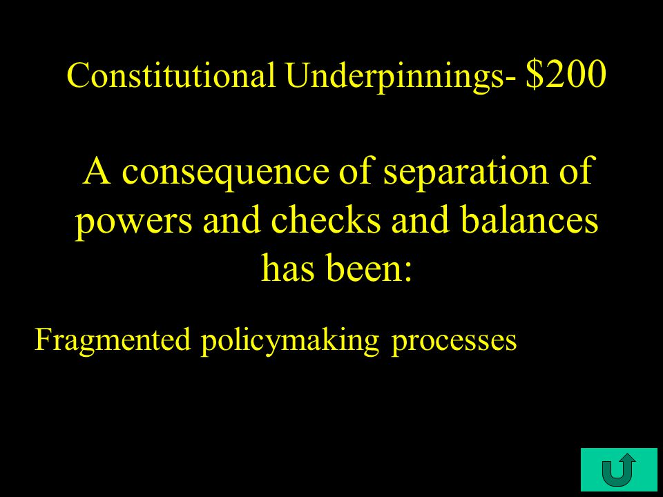 C3-$100 Constitutional Underpinnings- $100 Congress has exercised implied powers through the use of the.