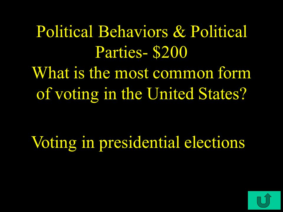 C4-$100 Political Behaviors & Political Parties- $100 What is one effect of growing older.