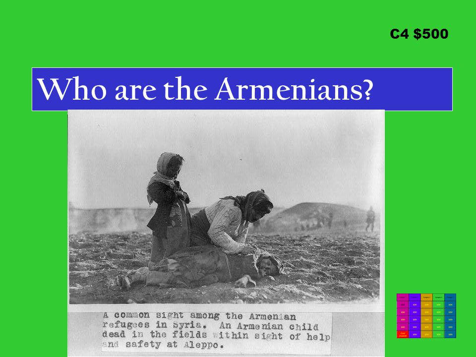 C4 $500 Who are the Armenians?