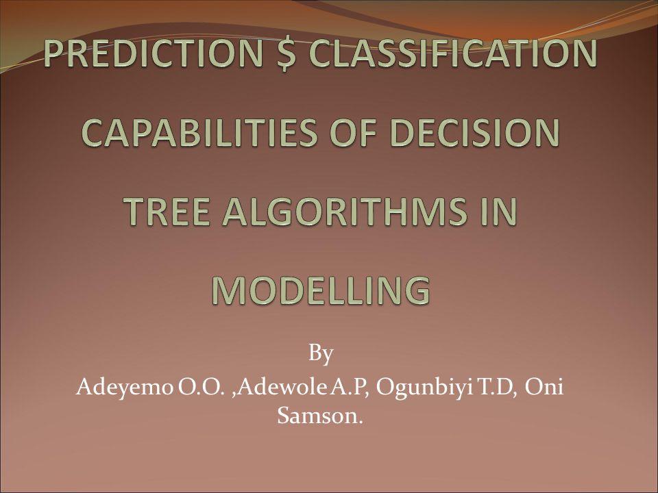 By Adeyemo O.O.,Adewole A.P, Ogunbiyi T.D, Oni Samson.