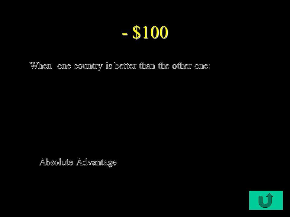 C1-$100 - $100