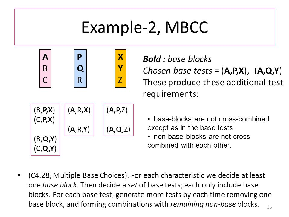 Example-2, MBCC (C4.28, Multiple Base Choices).