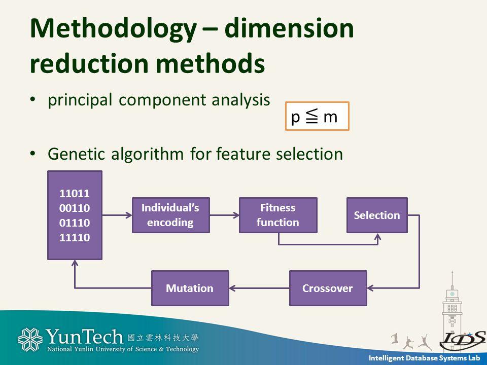 Intelligent Database Systems Lab Methodology – text categorization methods KNN classifier C4.5 decision tree classifier