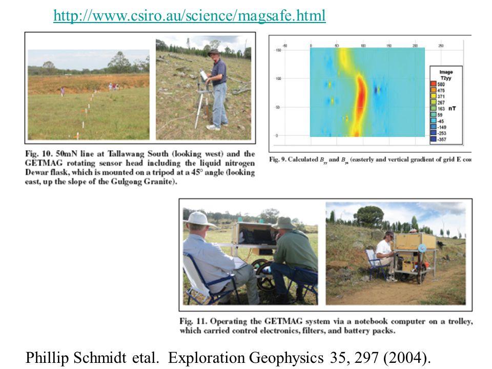 Phillip Schmidt etal. Exploration Geophysics 35, 297 (2004). http://www.csiro.au/science/magsafe.html