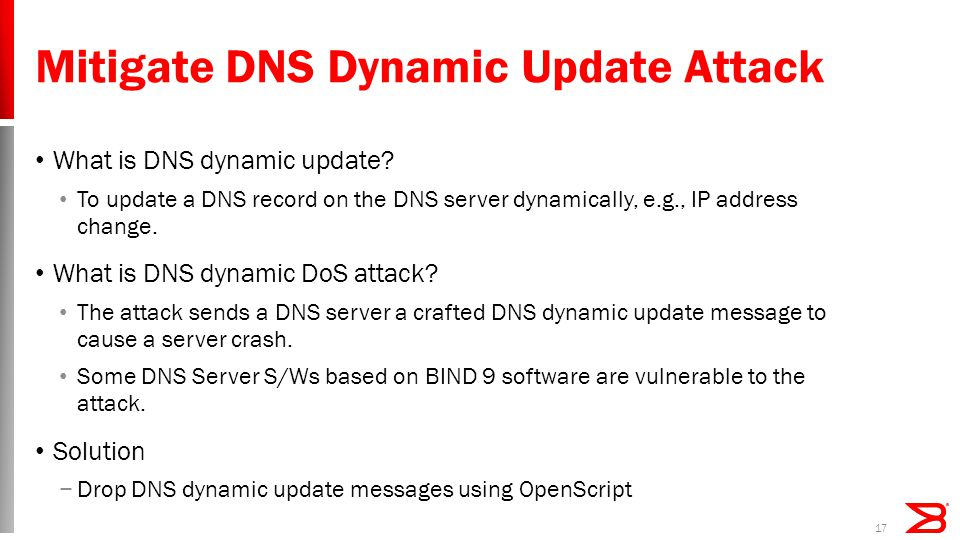 Mitigate DNS Dynamic Update Attack What is DNS dynamic update.