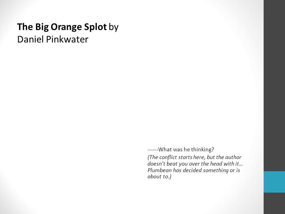 The Big Orange Splot by Daniel Pinkwater ------What was he thinking.