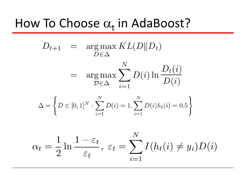 How To Choose  t in AdaBoost?