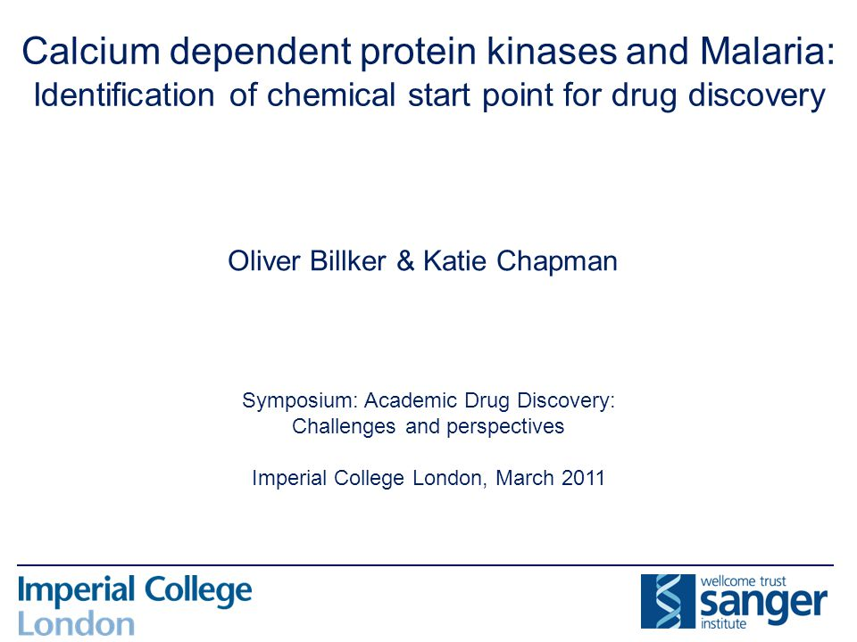 Calcium dependent protein kinases and Malaria: Identification of chemical start point for drug discovery Symposium: Academic Drug Discovery: Challenge