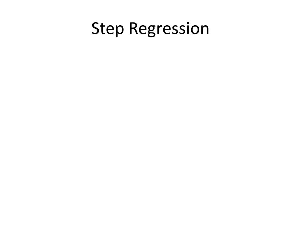 Step Regression