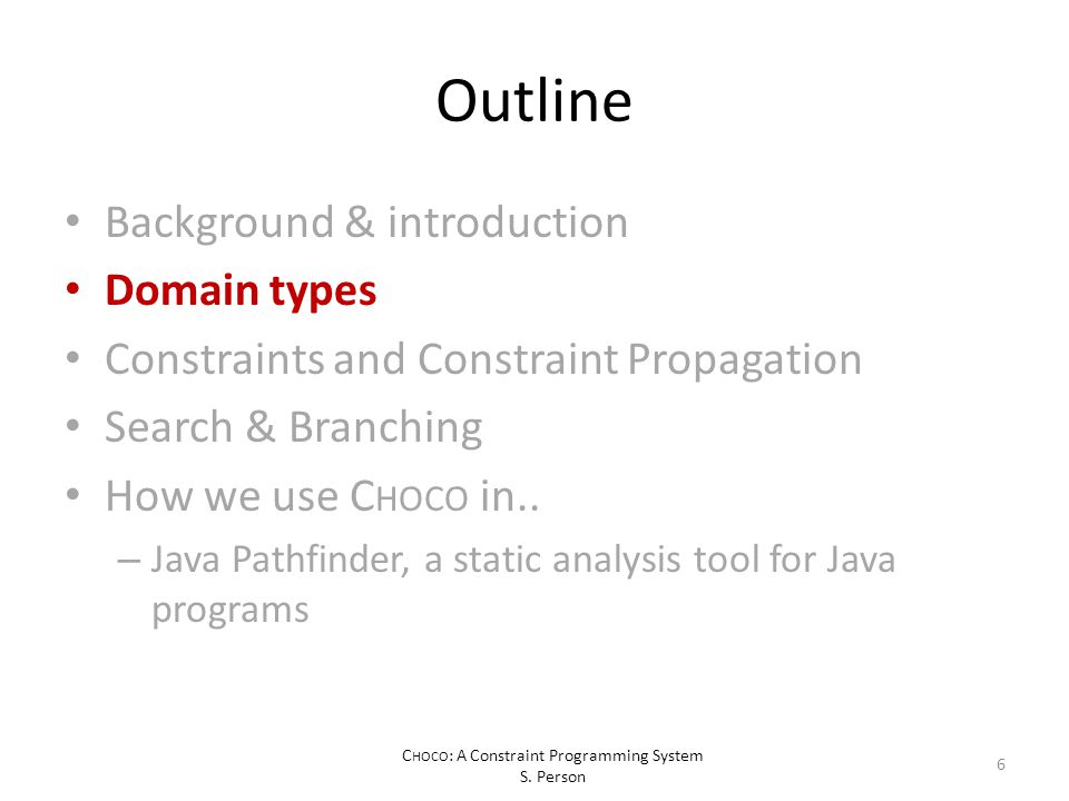 C HOCO : A Constraint Programming System S.