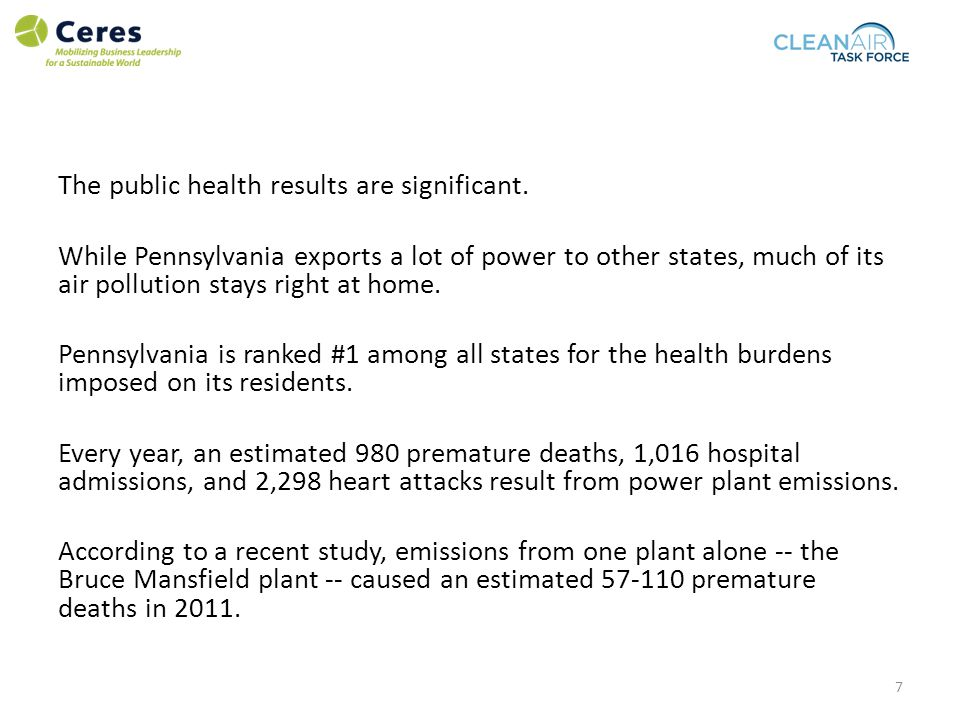 The public health results are significant.