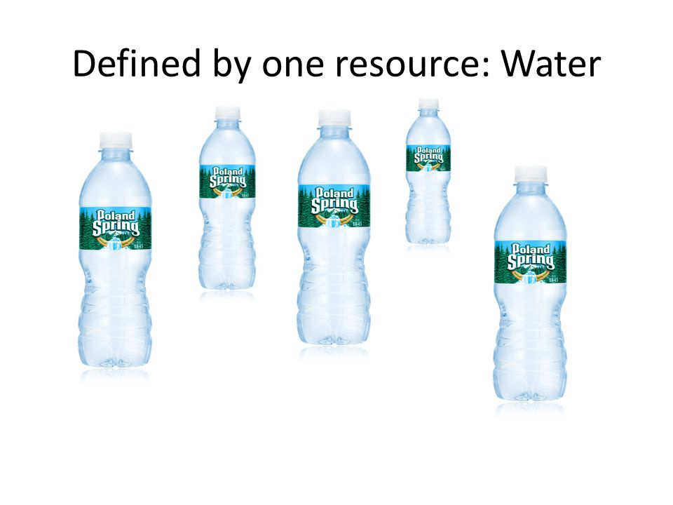 Defined by one resource: Water