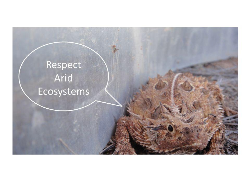 Respect Arid Ecosystems