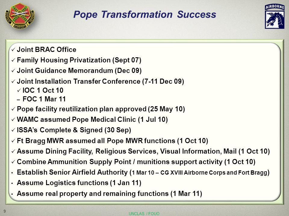 10 BRAC Status Update