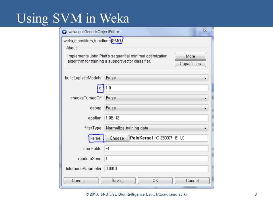 8 Using SVM in Weka