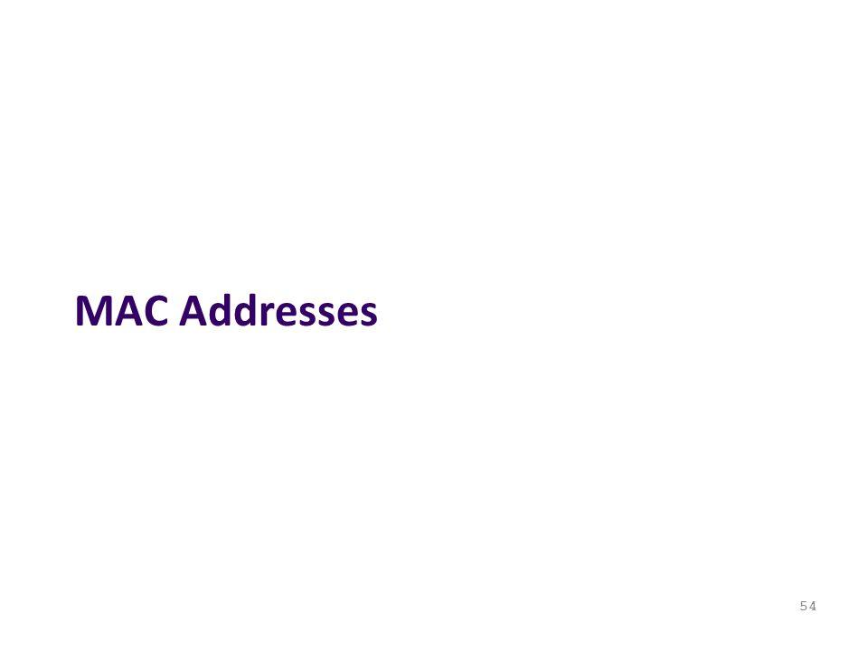 MAC Addresses 54