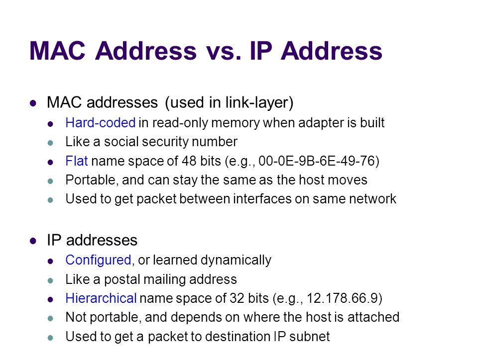 MAC Address vs.