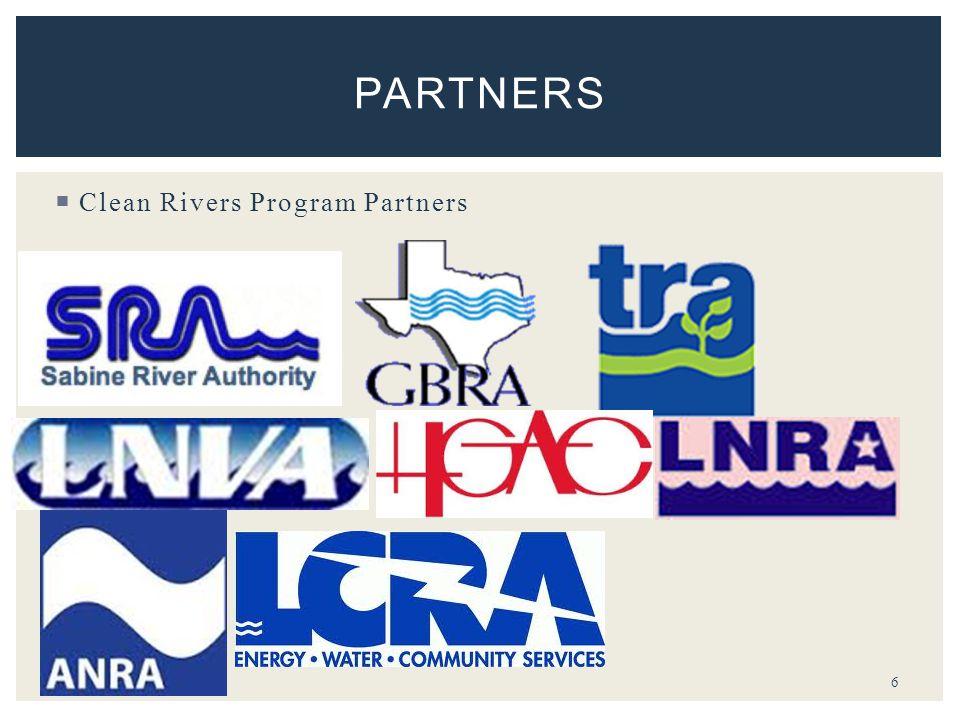  Clean Rivers Program Partners 6 PARTNERS