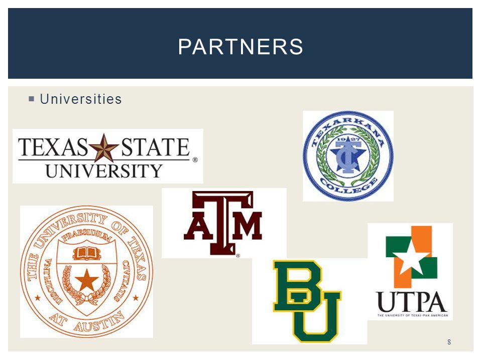  Universities 8 PARTNERS