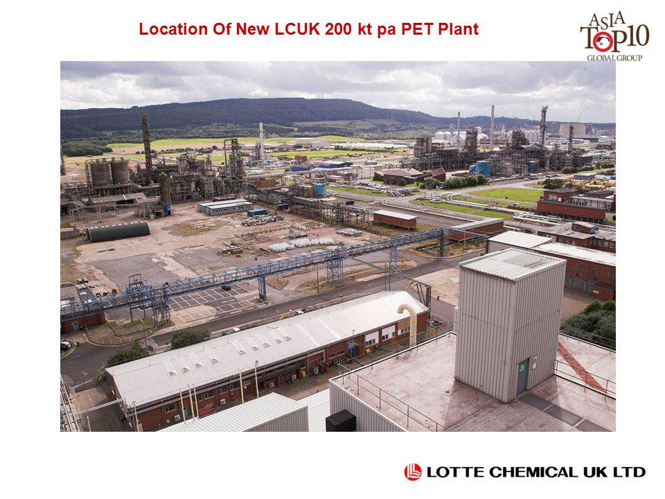 Location Of New LCUK 200 kt pa PET Plant