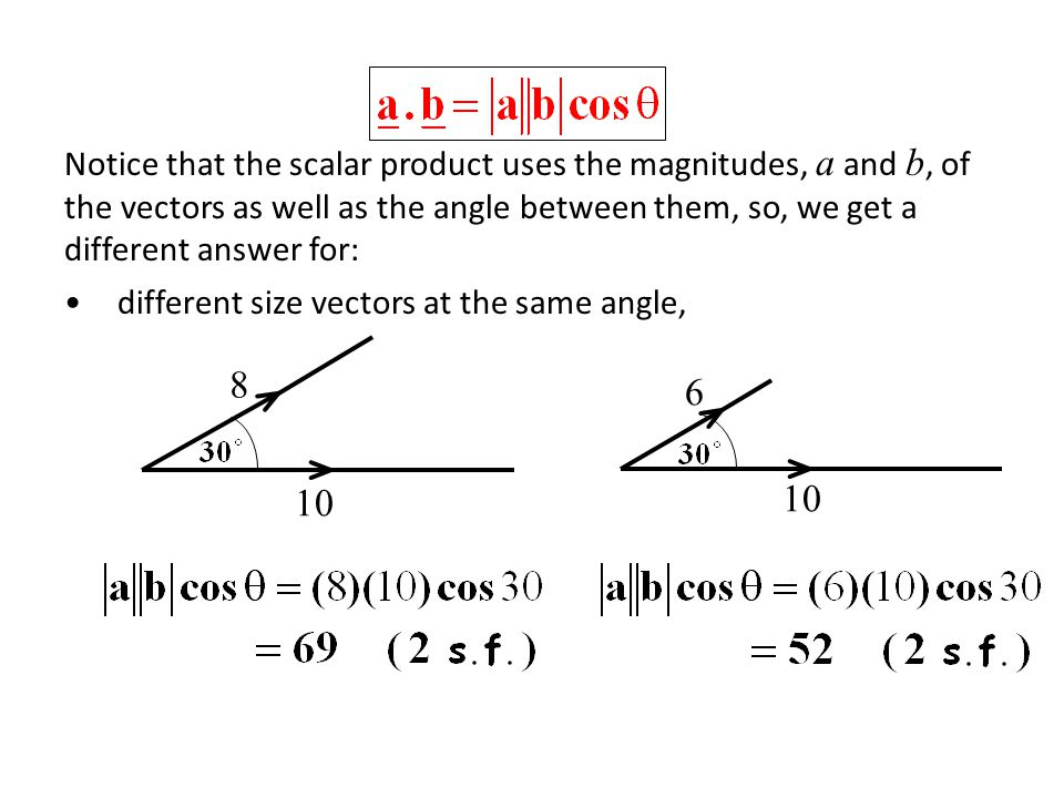 Finding Angles between Lines e.g.With lines instead of vectors, we have 2 possible angles.