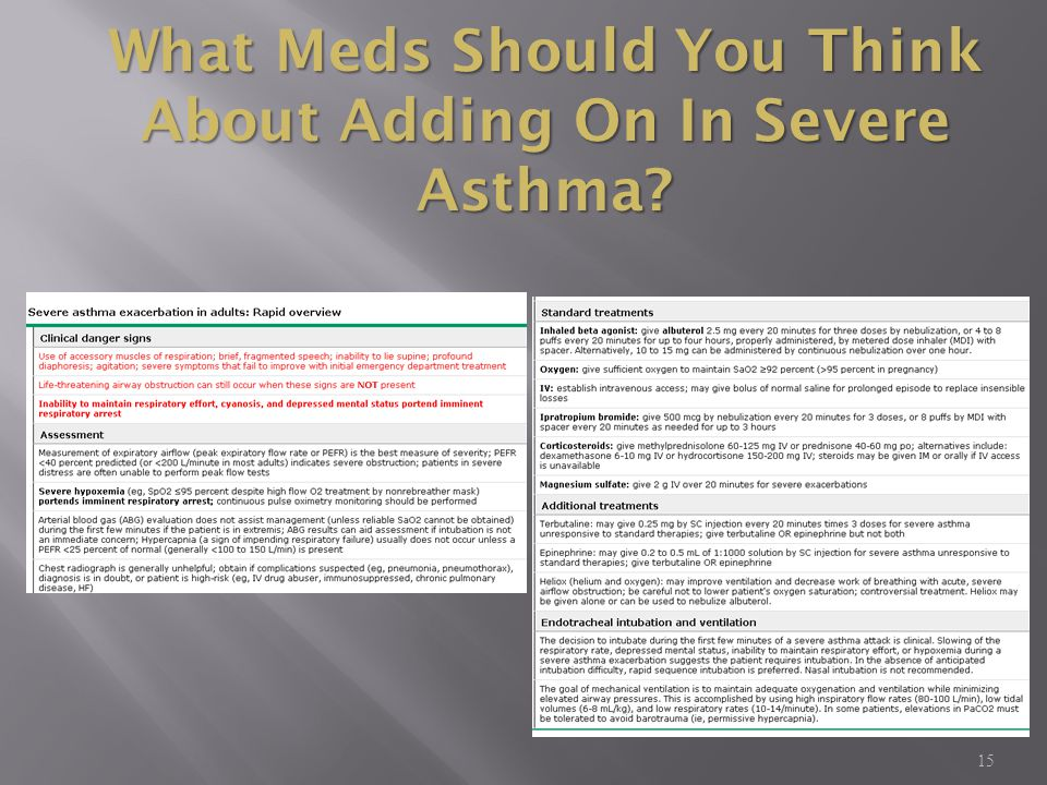 15 What Meds Should You Think About Adding On In Severe Asthma?