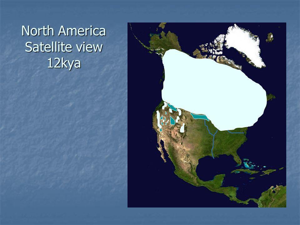 North America Satellite view 12kya