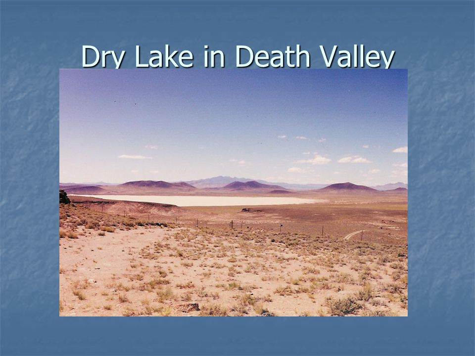 Dry Lake in Death Valley