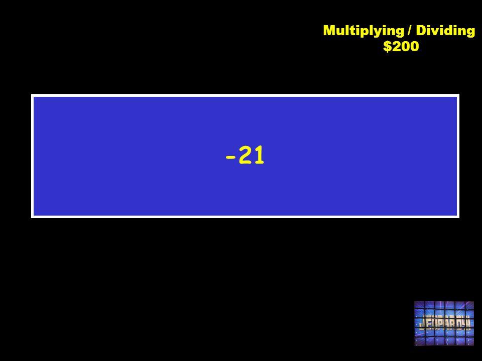 C3 $200 -63 3 Multiplying / Dividing $200
