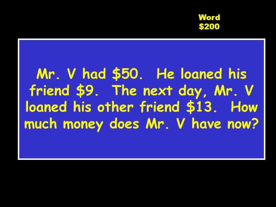 C5 $100 Word $100