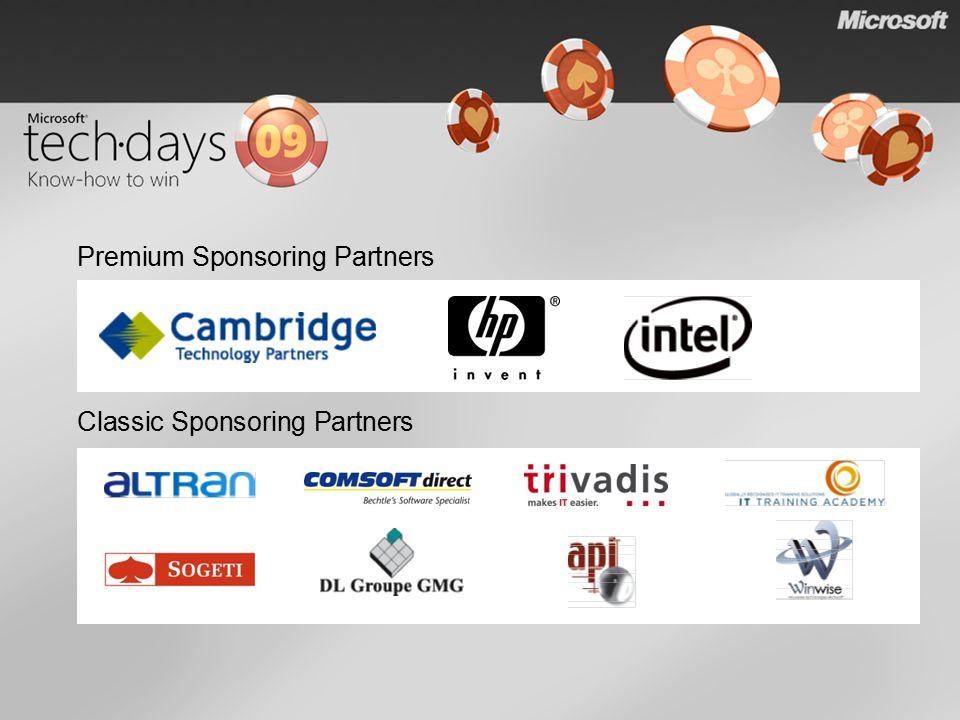 Classic Sponsoring Partners Premium Sponsoring Partners