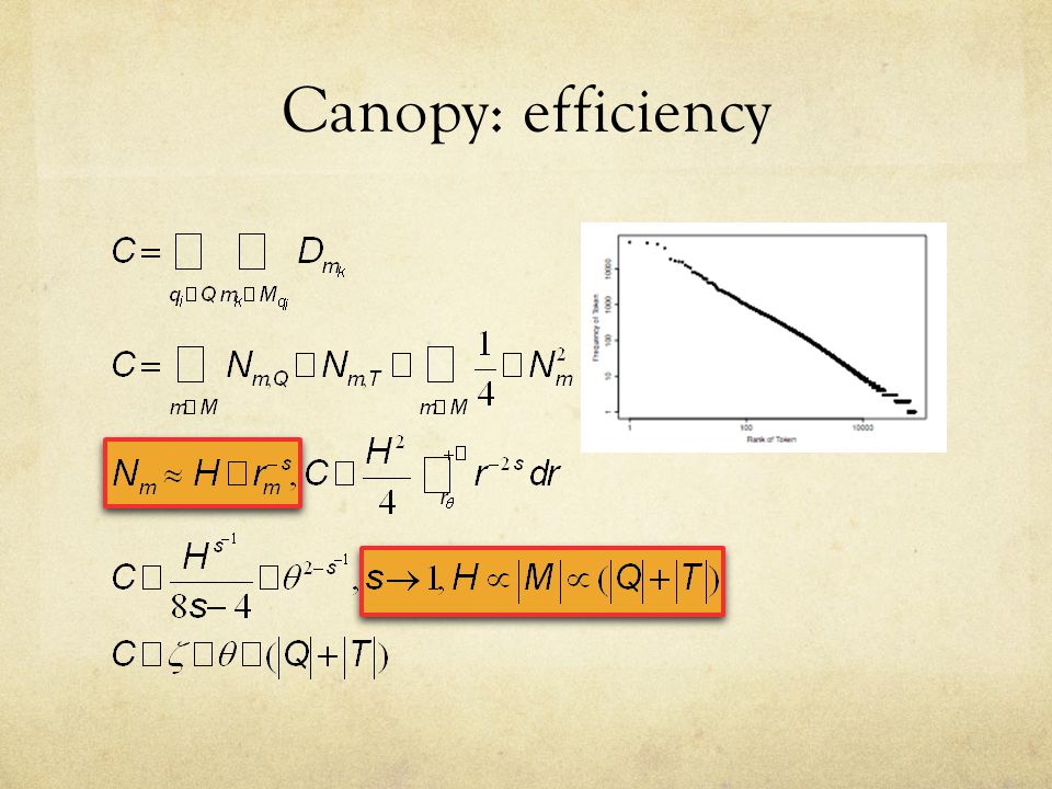 Canopy: efficiency