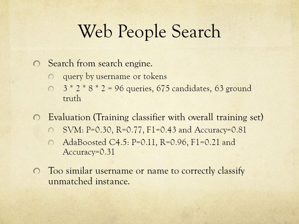 Web People Search Search from search engine.