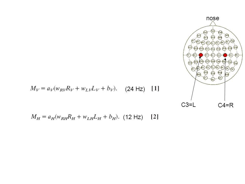 C3=L C4=R nose (24 Hz) (12 Hz)