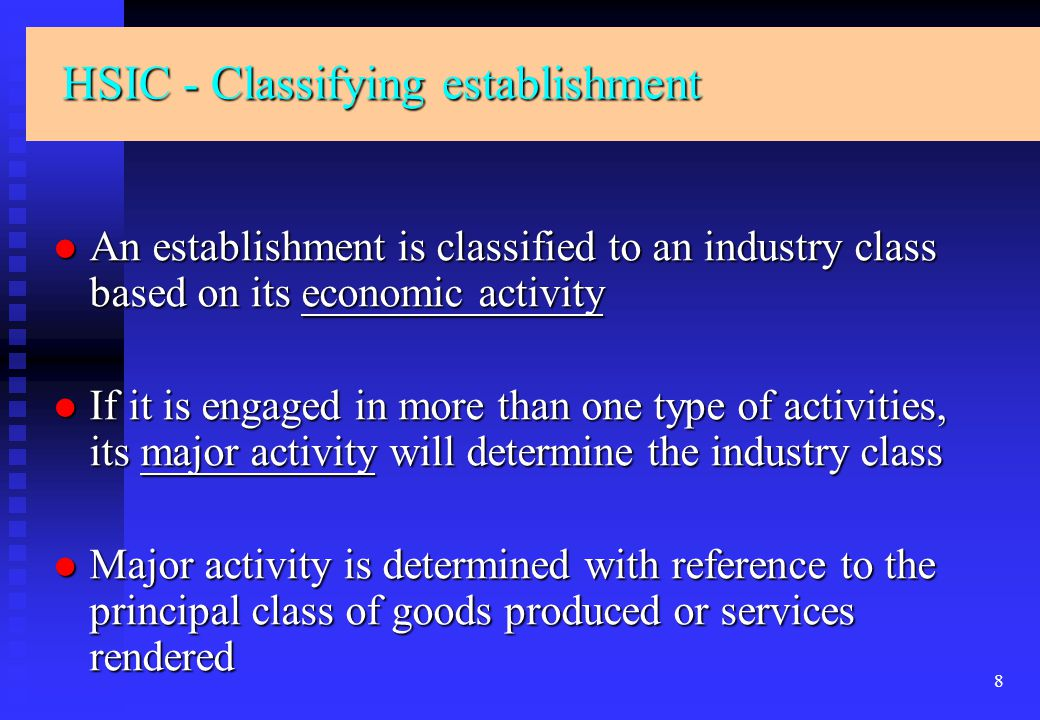 19 Name and Address Business Activities (HSIC) Employment Operating Status Establishment (Sampling Unit) Particulars