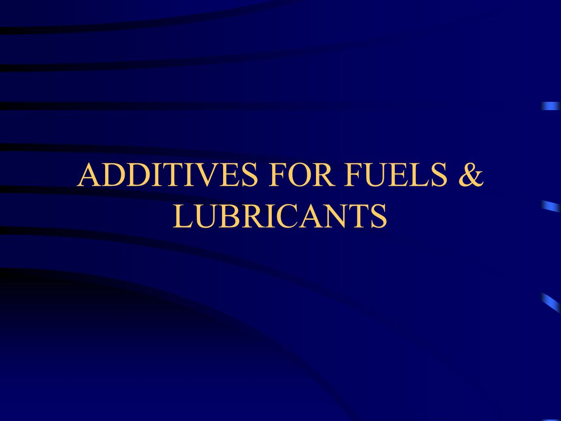 TYPES OF ADDITIVE Two Types of Additives are in Use Hindered Phenols Amines