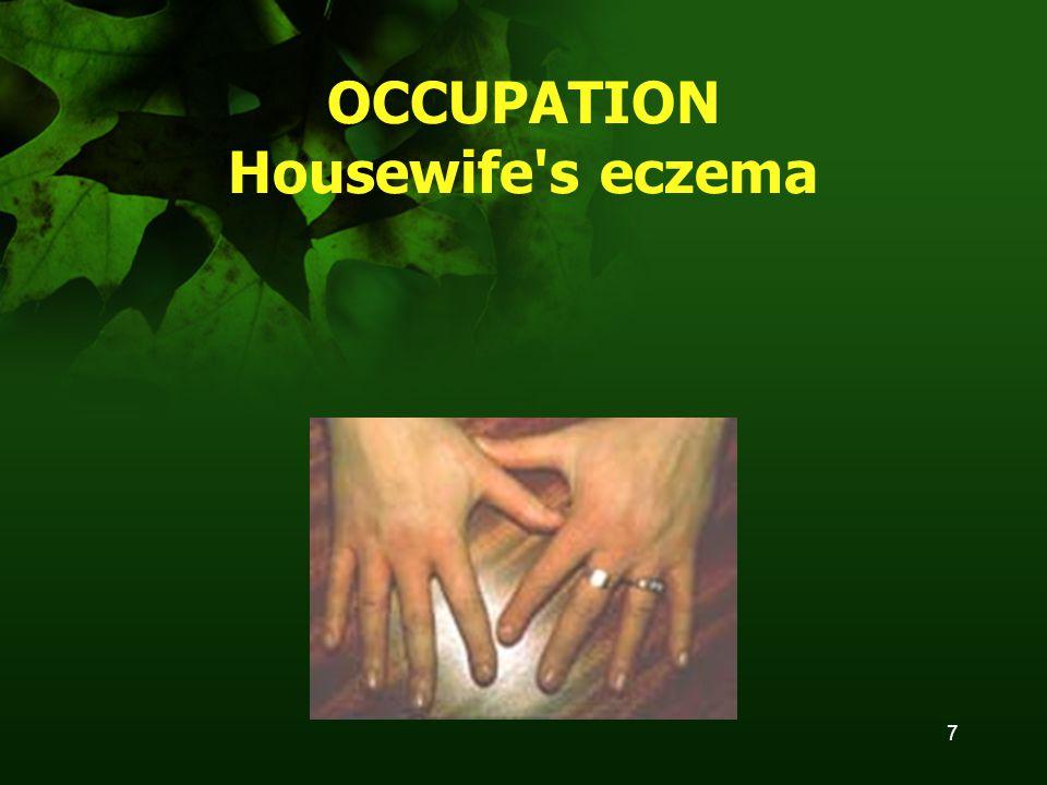 7 OCCUPATION Housewife s eczema
