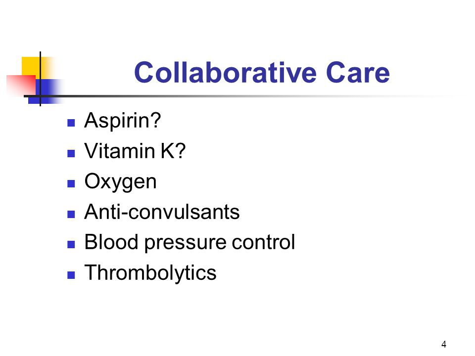 4 Collaborative Care Aspirin. Vitamin K.