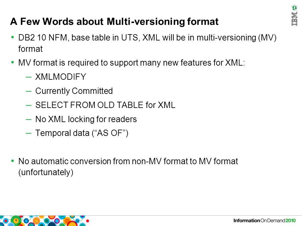 47 Encapsulating a Web Service CREATE FUNCTION STOCKQUOTE(INSYMBOL VARCHAR(4)) RETURNS TABLE (Symbol VARCHAR(4), LAST DECIMAL(6,2), …) LANGUAGE SQL NOT DETERMINISTIC RETURN SELECT * FROM XMLTABLE( /StockQuotes/Stock PASSING XMLPARSE(DOCUMENT XMLCAST( XMLQUERY( declare namespace soap= http://schemas.xmlsoap.org/soap/envelope/ ; declare default element namespace http://www.webserviceX.NET/ ; /soap:Envelope/soap:Body/GetQuoteResponse/GetQuoteResult passing XMLPARSE(DOCUMENT DB2XML.SOAPHTTPNC( http://www.webservicex.net/stockquote.asmx , http://www.webserviceX.NET/GetQuote ,    INSYMBOL    ) ) ) as VARCHAR(2000)) ) COLUMNS Symbol VARCHAR(4), Last DECIMAL(6,2), Date VARCHAR(10), Time VARCHAR(8), Change VARCHAR(8), Open VARCHAR(8), High VARCHAR(8), Low VARCHAR(8), Volume VARCHAR(12) ) XT Invocation: SELECT * FROM TABLE( STOCKQUOTE( IBM )) as X;