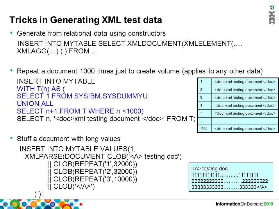 48 Scenario: XML Event Log for Auditing Event log keeps records of diverse events, including: – TIMESTAMP, SESSIONID, USERID, REQUEST, RESULTSTATUS, SOURCE, EVENTTYPE, ACTION, RESPONSE etc.